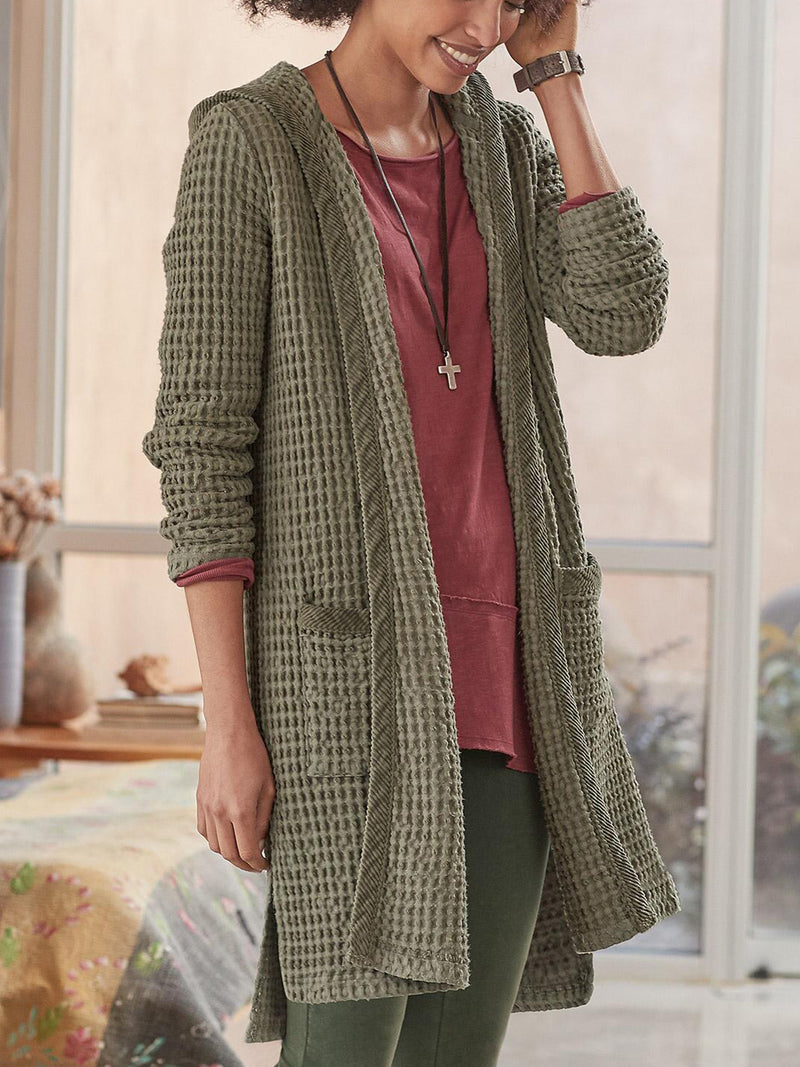 Cotton-Blend Casual Long Sleeve Outerwear