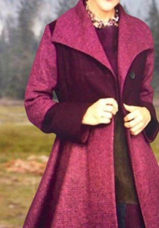 Wine Red Casual Solid Cotton-Blend Outerwear
