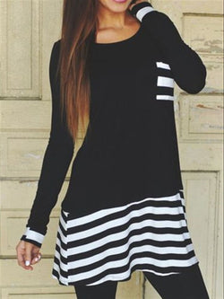Casual Basic Daily Long Sleeve Dress