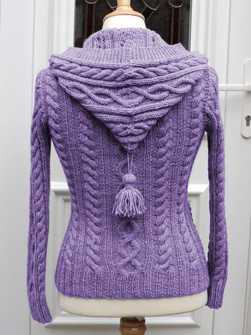 Casual Long Sleeve Plus Size Hoodie Cardigan