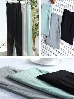 Plus Size Women Solid Casual Pants