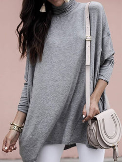 Gray Long Sleeve Casual Shirts & Tops