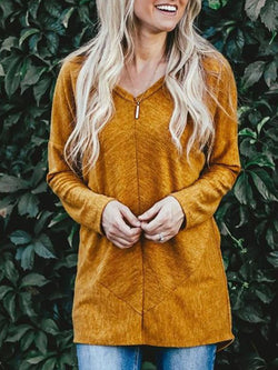 Yellow Casual Long Sleeve Shirts & Tops