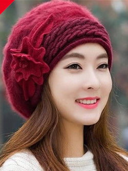 Rose Red Casual Cozy Hats