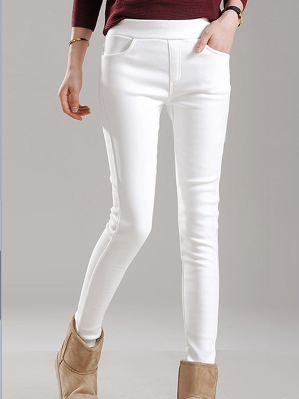Plus size plus velvet padded leggings to wear tight pants Casual Pants