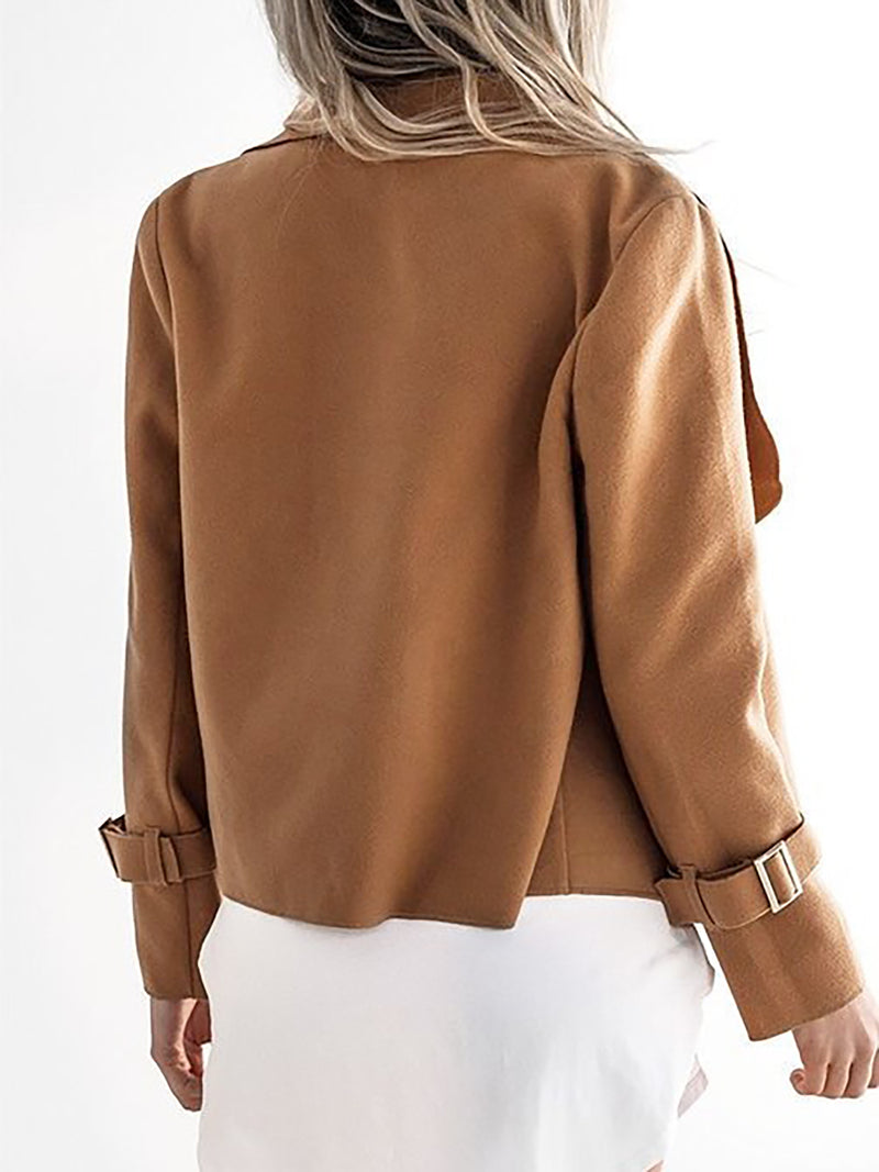 Paneled Elegant Shearling Jacket