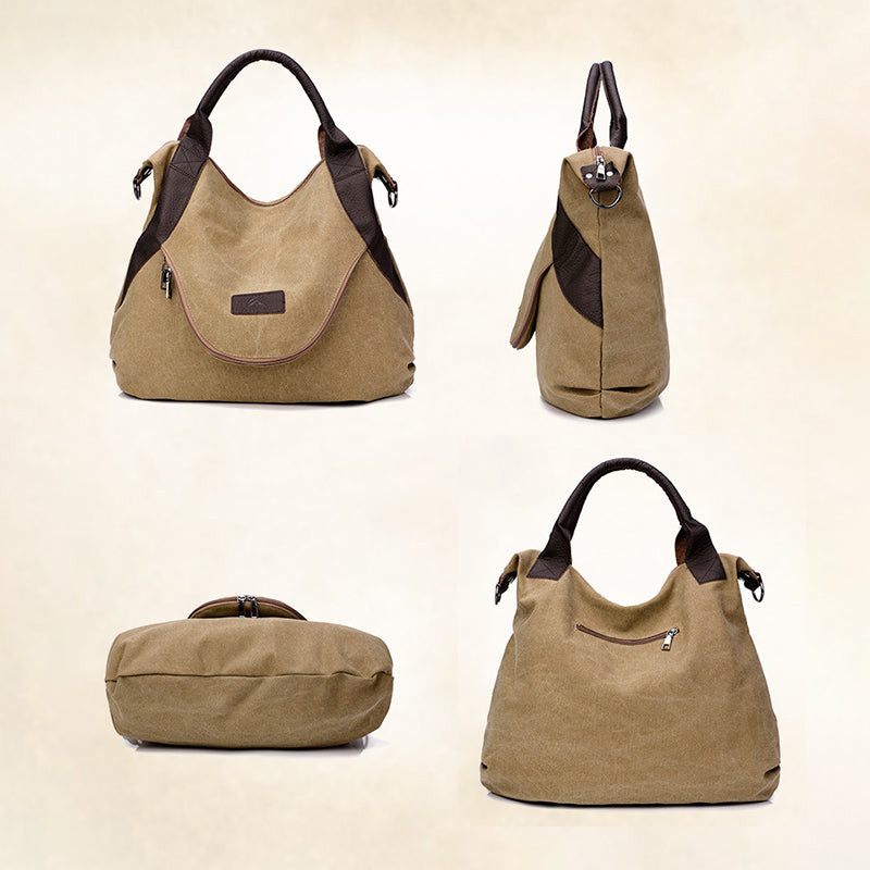 Outdoor Capacity High Women Casual Travel Canvas Shoulder Bags