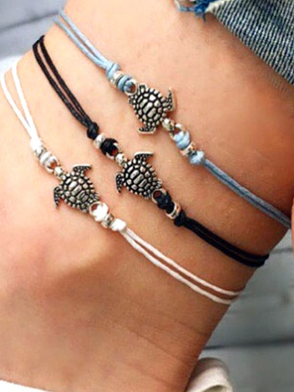 Casual Holiday Alloy Chain Anklets  Accessories