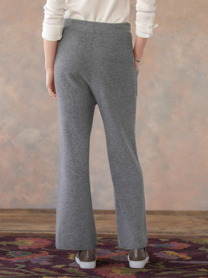 Gray Solid Casual Pants
