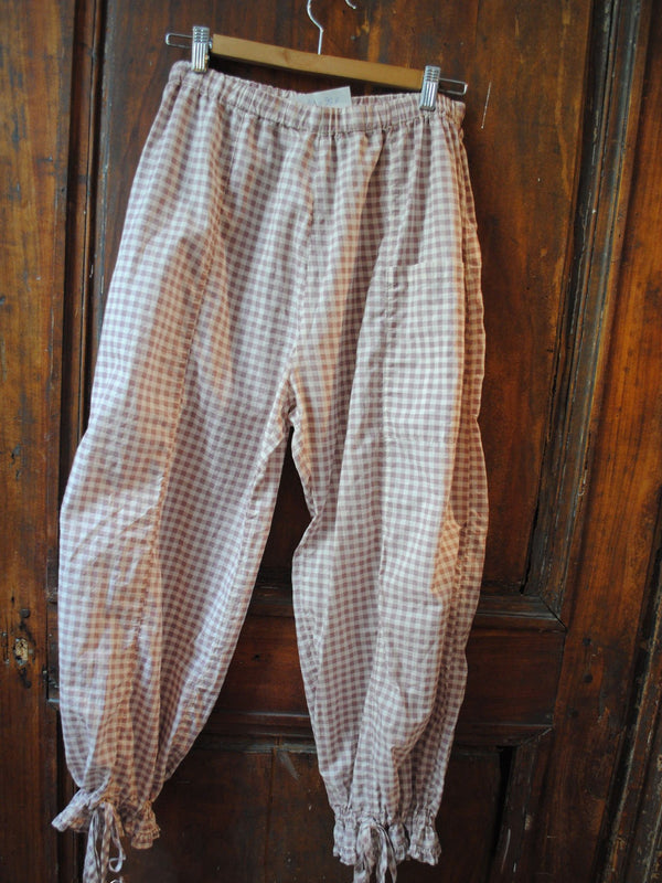 Pink Checkered/plaid Cocoon Vintage Pants