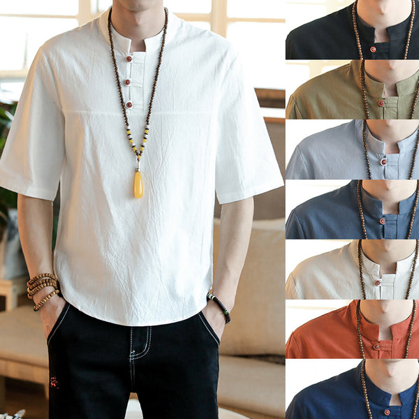 Men Round Neck Shirts & Tops