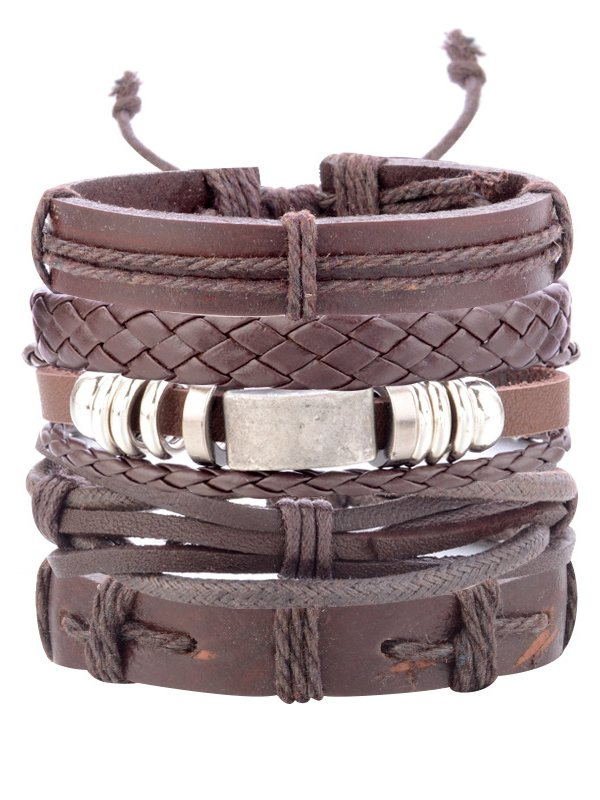 As Picture Pu Casual Bracelets