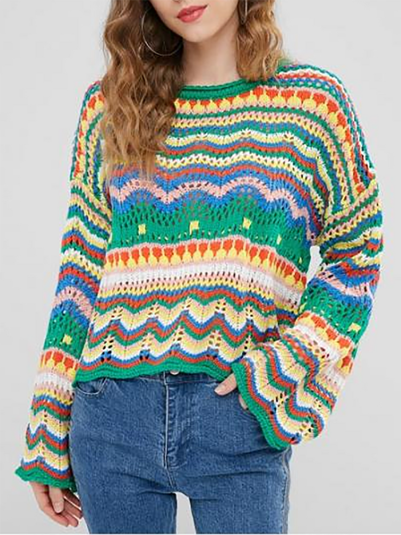 Loose multicolored sweater
