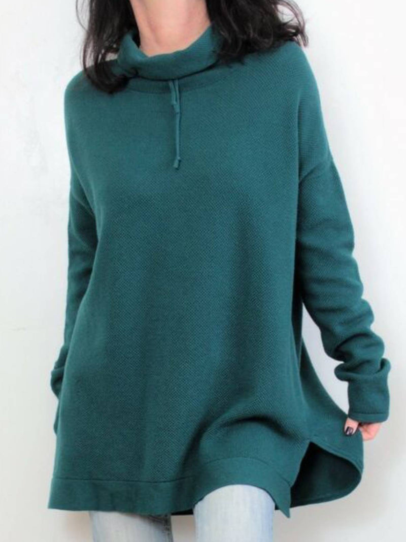 Green Long Sleeve Casual Cotton-Blend Shirts & Tops