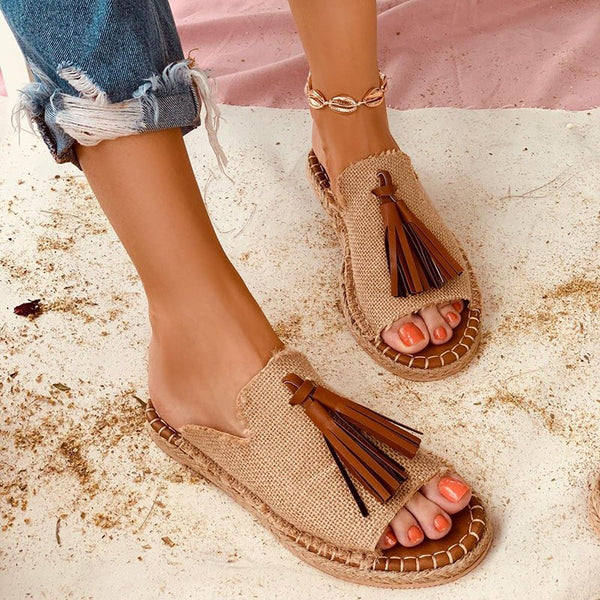 Women Casual Summer Stylish Slip On Flat Sandals