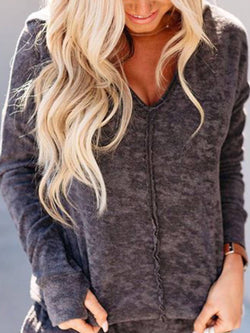 Gray Plain Casual Shirts & Tops