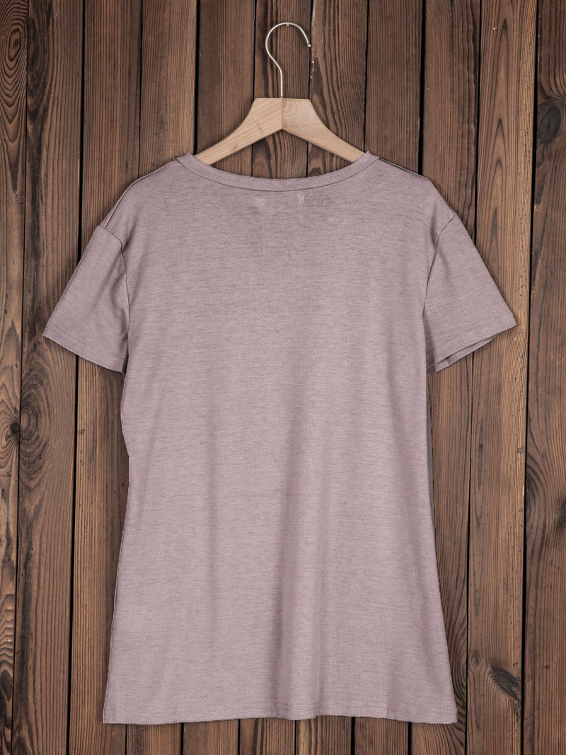 Casual Round Neck Short Sleeve Cotton-Blend Tops