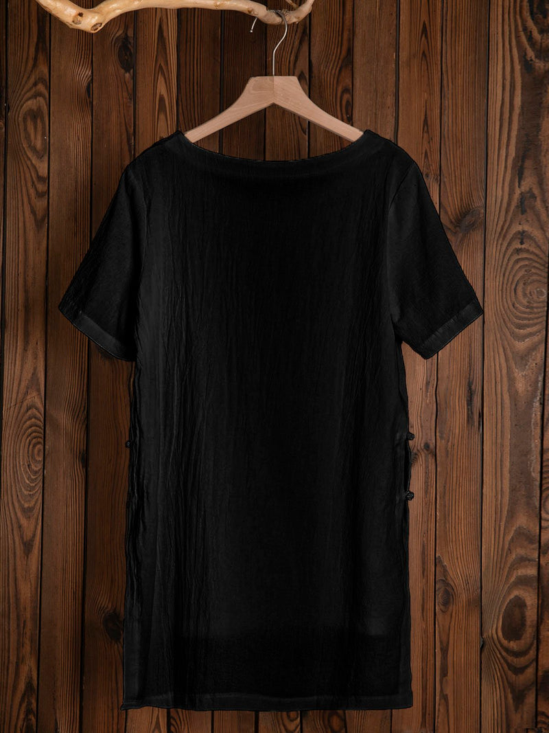 2019 Summer Linen Solid Plus Size Short Sleeve T-Shirts