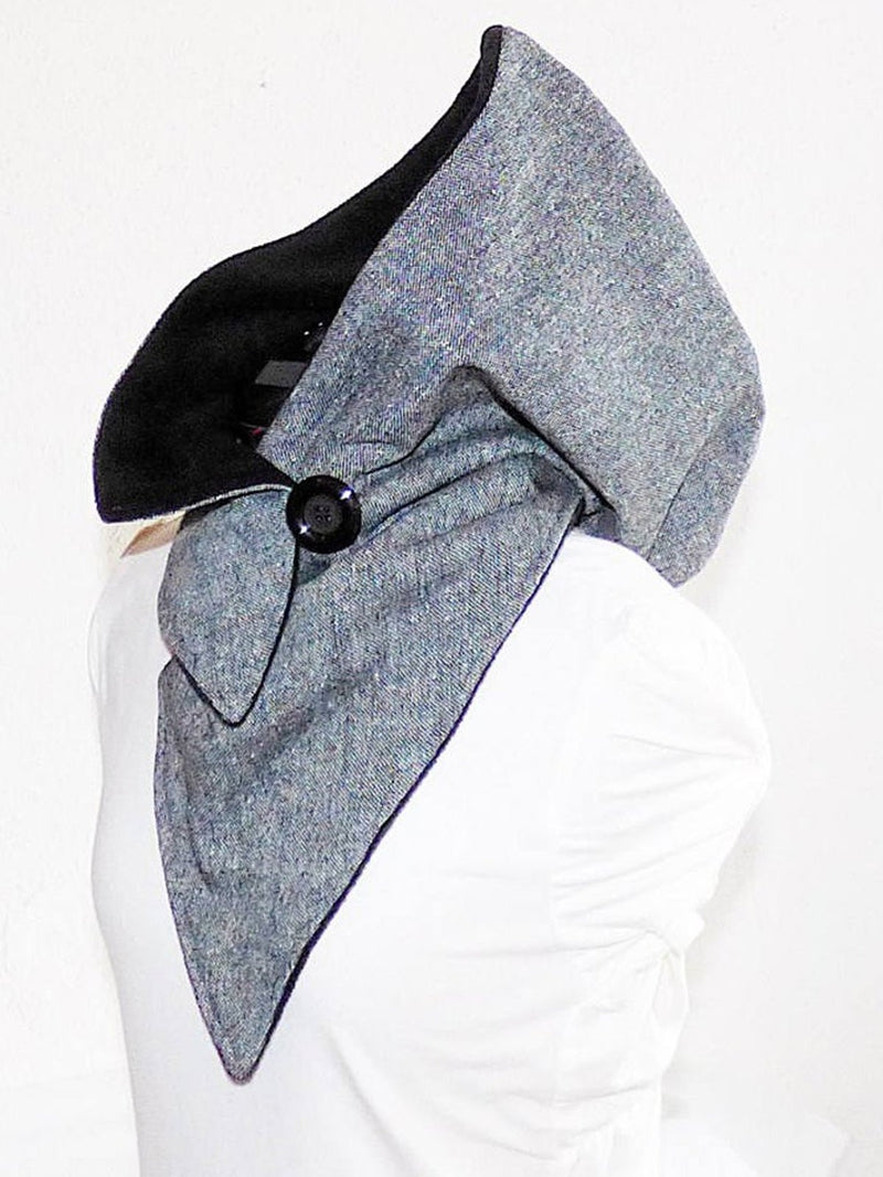 Gray Casual Cotton-Blend Scarves & Shawls