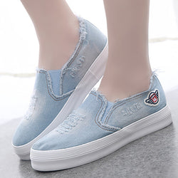 Women Denim Loafers Casual Comfort Shoes