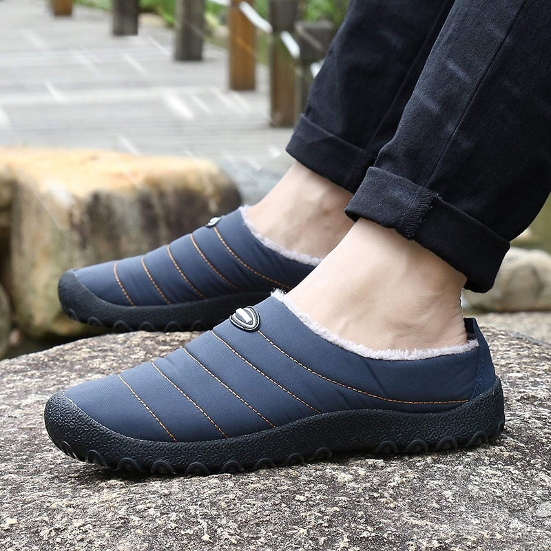 Indoor Outdoor Slippers Fur Lined Winter Waterproof Clog House Shoes