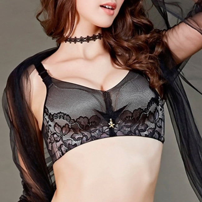 Angelvic Sexy Lace Wireless Anti-sagging Gather Push Up Adjustable Bras (US A/B/C Cup)