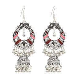 Vintage National Palace Style Classical Indian Hollow Bell Earrings