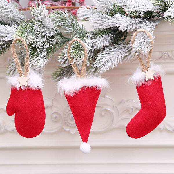 Christmas Decorations Christmas Hat Gloves Boots