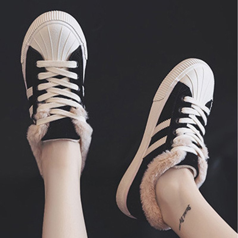 Women Snow Shell Toe Sneakers Casual Shoes