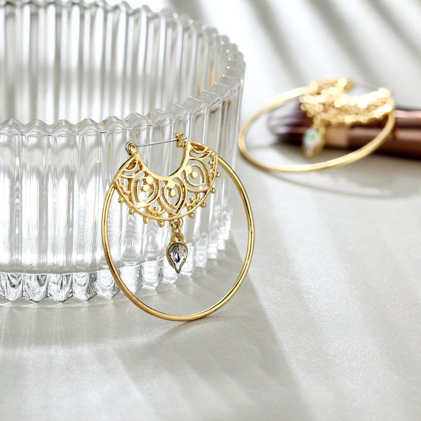 Golden Alloy Earrings