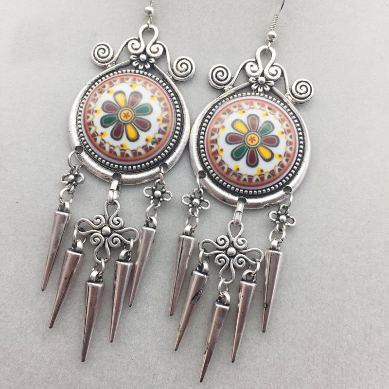 As Picture Alloy Earrings