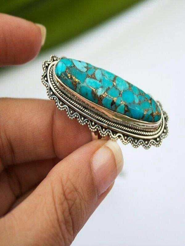 Blue Alloy Rings