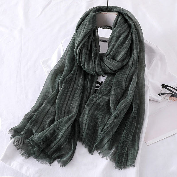 Women Solid Casual Comfort Scarves