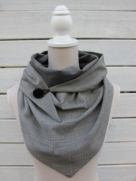 Gray Checkered/plaid Scarves & Shawls