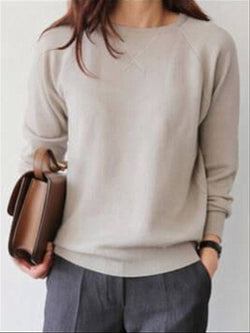 Casual Basic Daily Crew Neck Top