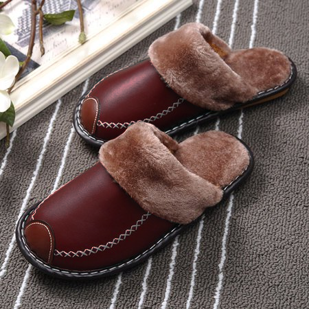 Winter PU Leather Waterproof Warm Slipper (Buy 1 get 1 at 20% OFF)