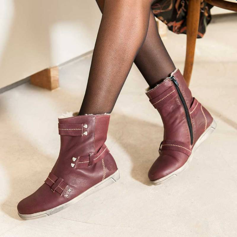 Winter Warm Leather Ankle Boot