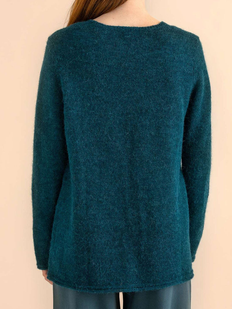 Blue Long Sleeve Cotton Solid Shirts & Tops