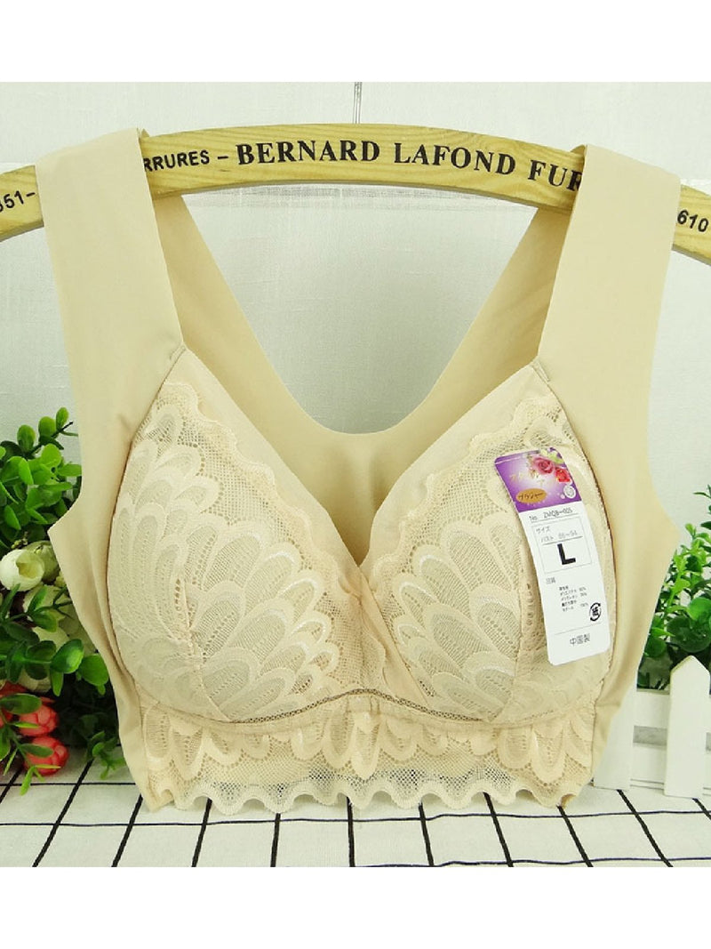 High Elastic Wireless Breathable Soft Full Busty Comfort Bra