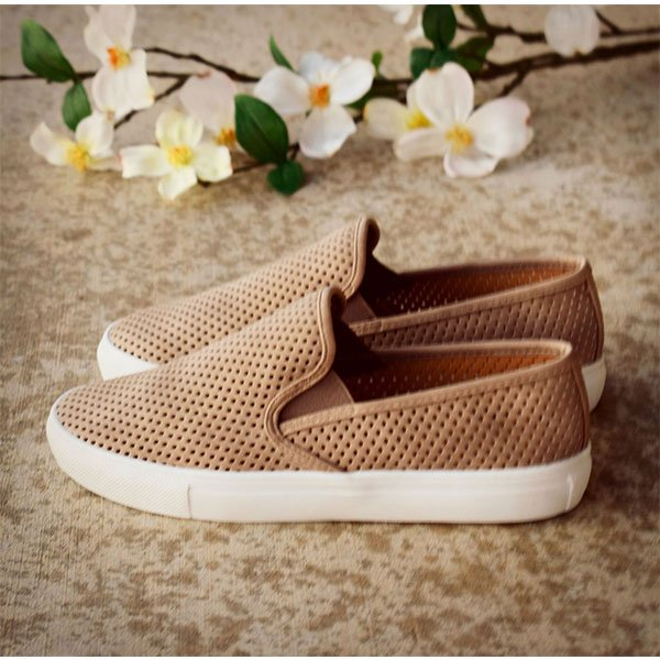 Women Comfy Slip-on Perforated Sneakers