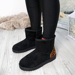 Plus Size Casual Slip on Winter Ankle Boots