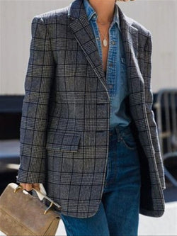 Autumn Winter Casual Basic Daily Suit Coat