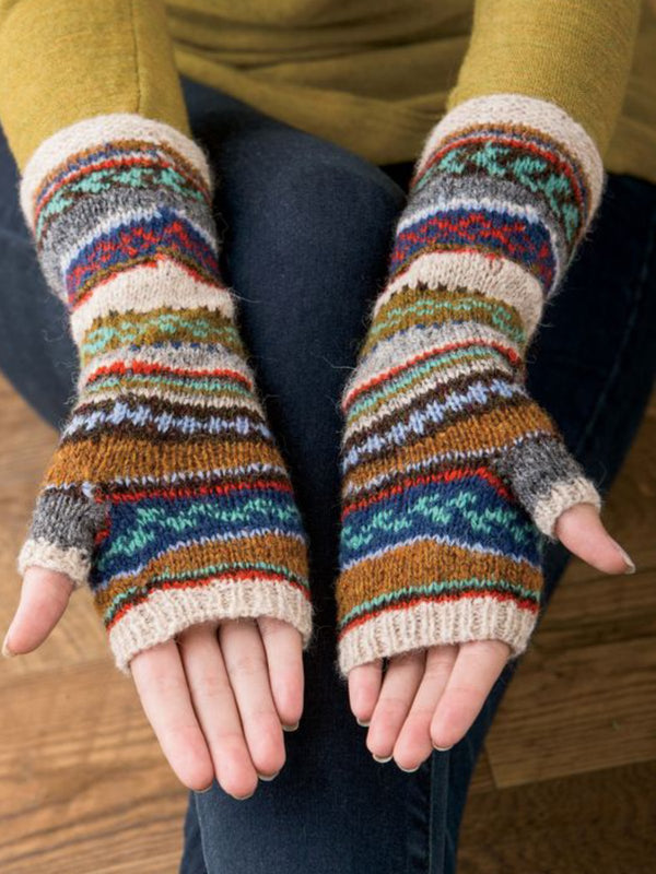 Tribal Casual Vintage Multicolor  Gloves & Mittens