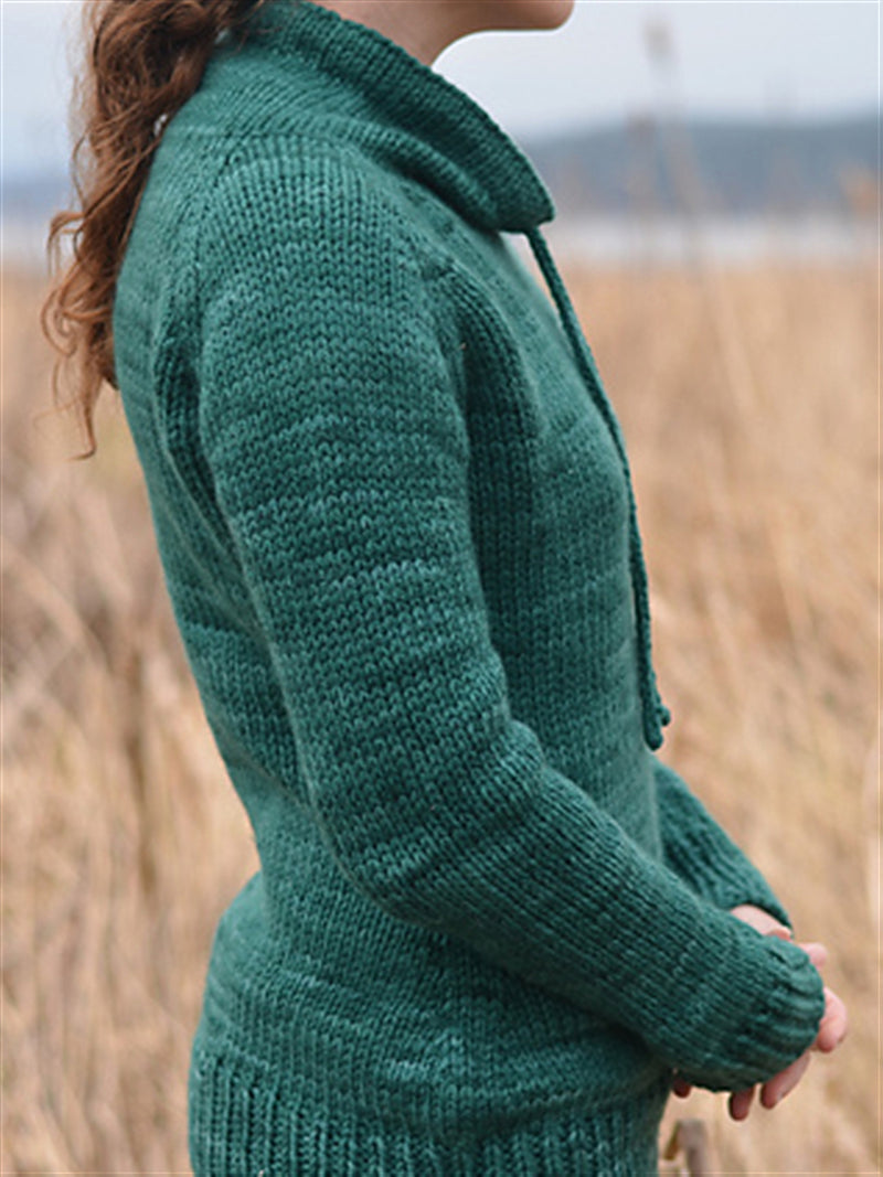 Autumn Winter Casual Basic Daily Long Sleeve Knitted Turtleneck Plus Size Sweater
