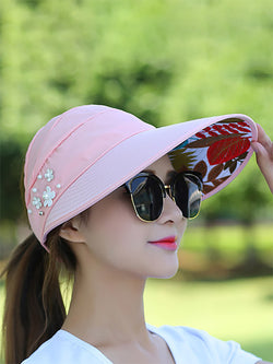 Women summe Floral Polyester Casual Hat