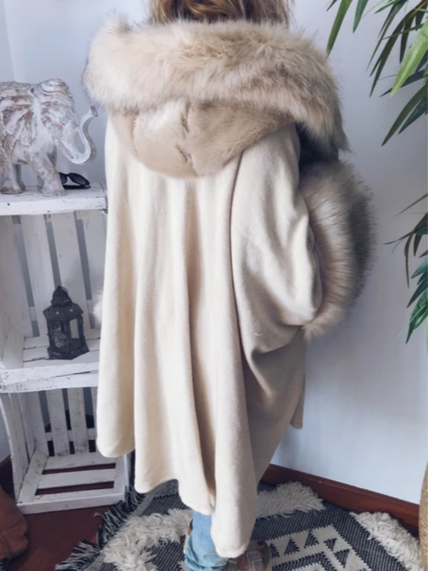 Beige Cotton Long Sleeve Outerwear