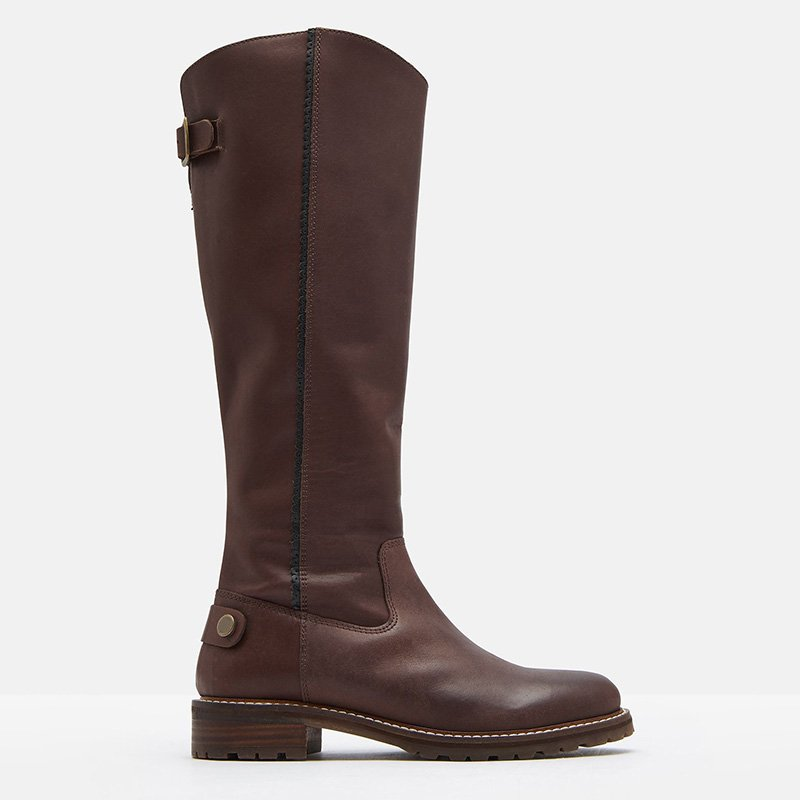 Brown Fall Pu Holiday Low Heel Zipper Boots