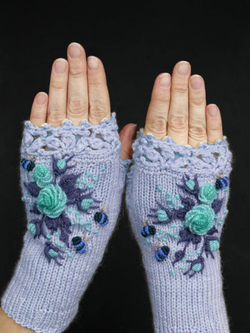 Fashion Vintage Cotton-Blend All Season Gloves & Mittens