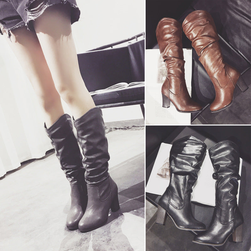 Women Chunky Heel Booties Casual Comfort Plus Size Shoes