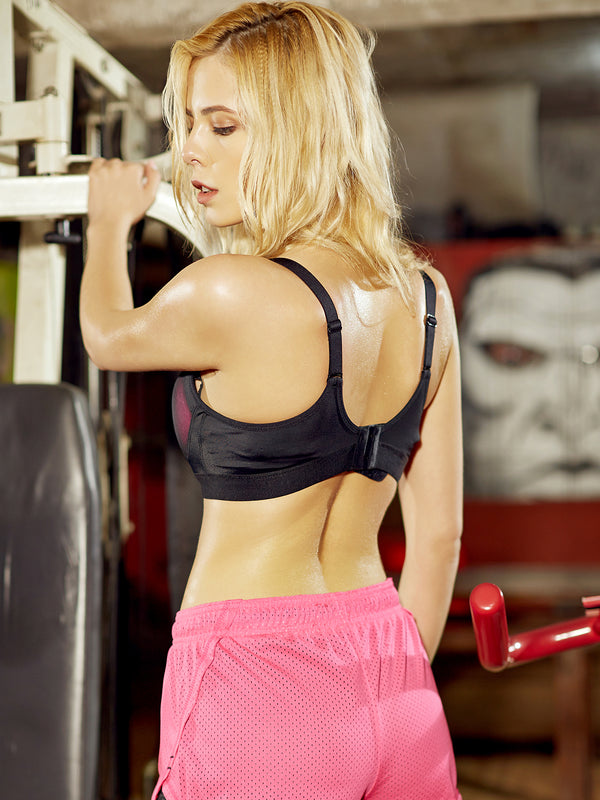 Fuchsia Breathable Wireless Stretchy Sports Bras